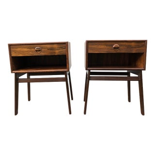 1950s Mid-Century Modern Nightstands-a Pair For Sale