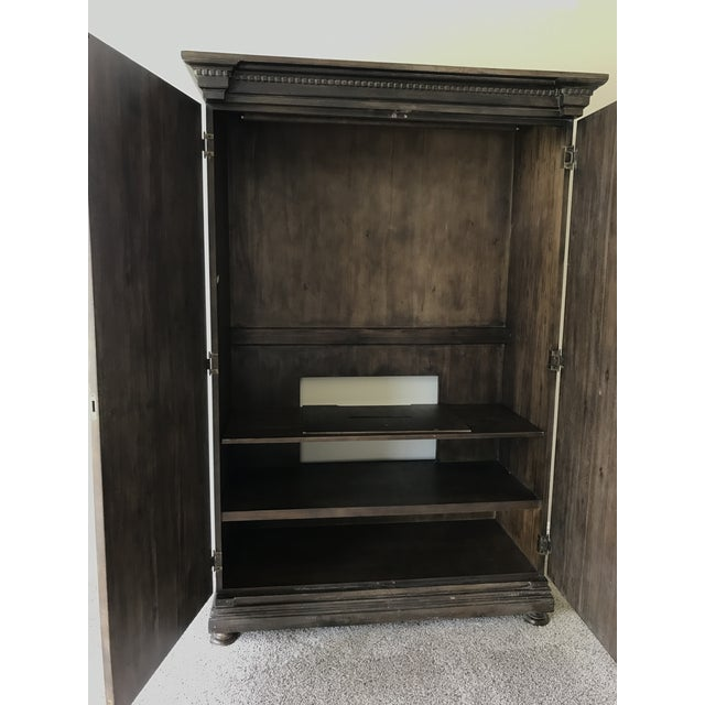 Contemporary Restoration Hardware St. James Armoire For Sale - Image 3 of 3