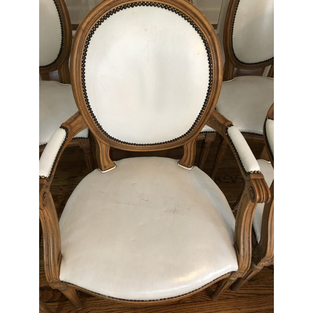 Baker Furniture Company 1960s Vintage Baker Furniture Leather Dining Chairs-Set of 8 For Sale - Image 4 of 12