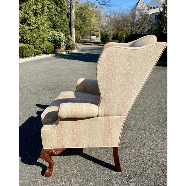 Hickory Furniture Hickory Chair Company English Style Wingback Chair For Sale - Image 4 of 8