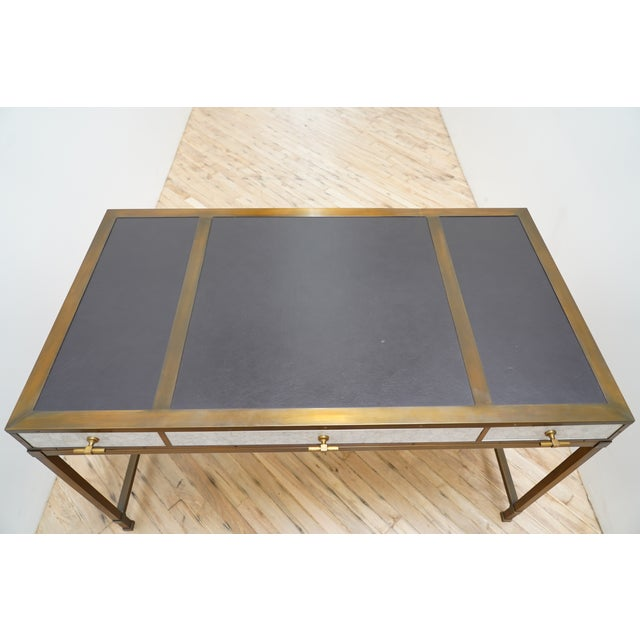 The Lacquer Company Gambrel Desk Each desk is hand crafted and absolutely stunning! Eggshell lacquer with burnished brass...