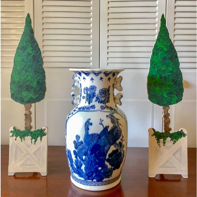 Traditional Wood Easel Topiary, Pair For Sale - Image 3 of 4