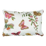 Image of Schumacher Baudin Butterfly Chintz Pillow in Blush For Sale
