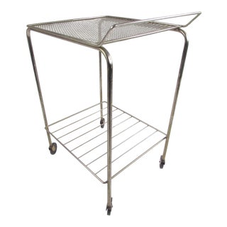 Industrial Modern Metal Service Cart For Sale