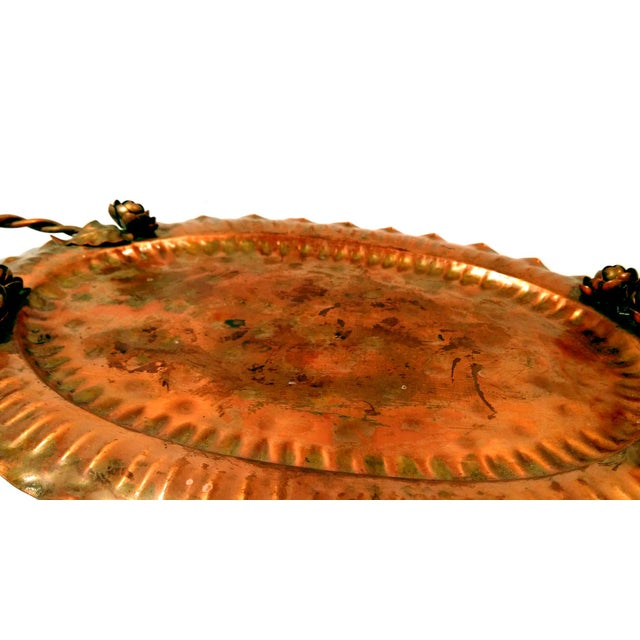 Vintage Hammered Copper Tray - Image 4 of 10