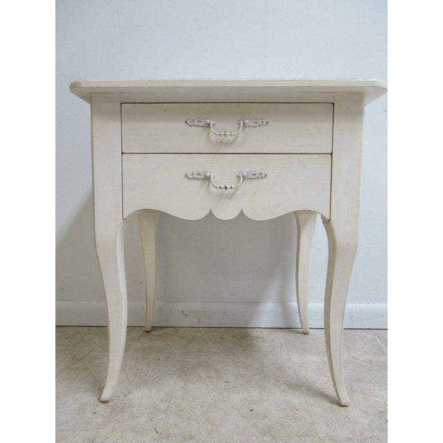 Ethan Allen Maison French Country Lamp End Table / Night Stand - Image 2 of 6
