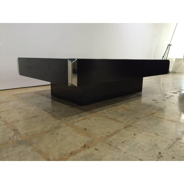 """Mario Sabot Willy Rizzo """"Alveo"""" Coffee, Cocktail Table With Dry Bar by Mario Sabot For Sale - Image 4 of 6"""