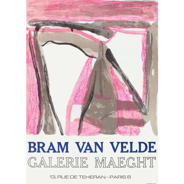 Mid-Century Modern 1975 Bram Van Velde Maeght Gallery Lithograph Poster For Sale - Image 3 of 3