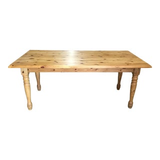 20th Century French Pine Farm Table For Sale