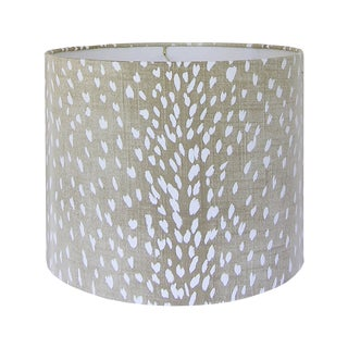 Antelope Fabric Lamp Shade, Large For Sale