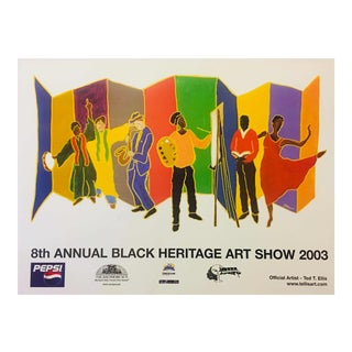 Ted T. Ellis 2003 Black Heritage Art Show 8th Annual Poster Print For Sale