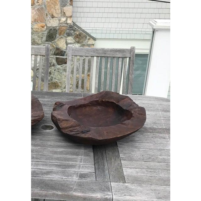 Teak Wood Bowls - A Pair - Image 4 of 12