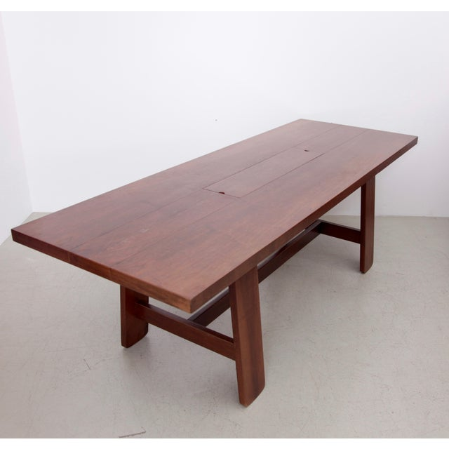 Brown Stunning Large Mahogany Dining Table by Silvio Coppola, Bernini Italy, 1960s For Sale - Image 8 of 8