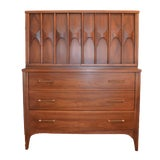 Image of 1960s Vintage Kent Coffey Mid Century Modern High Boy Gentleman's Chest For Sale