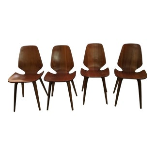 1965 Vintage Mid-Century Modern George Mulhauser for Plycraft Dining Chairs - Set of 4