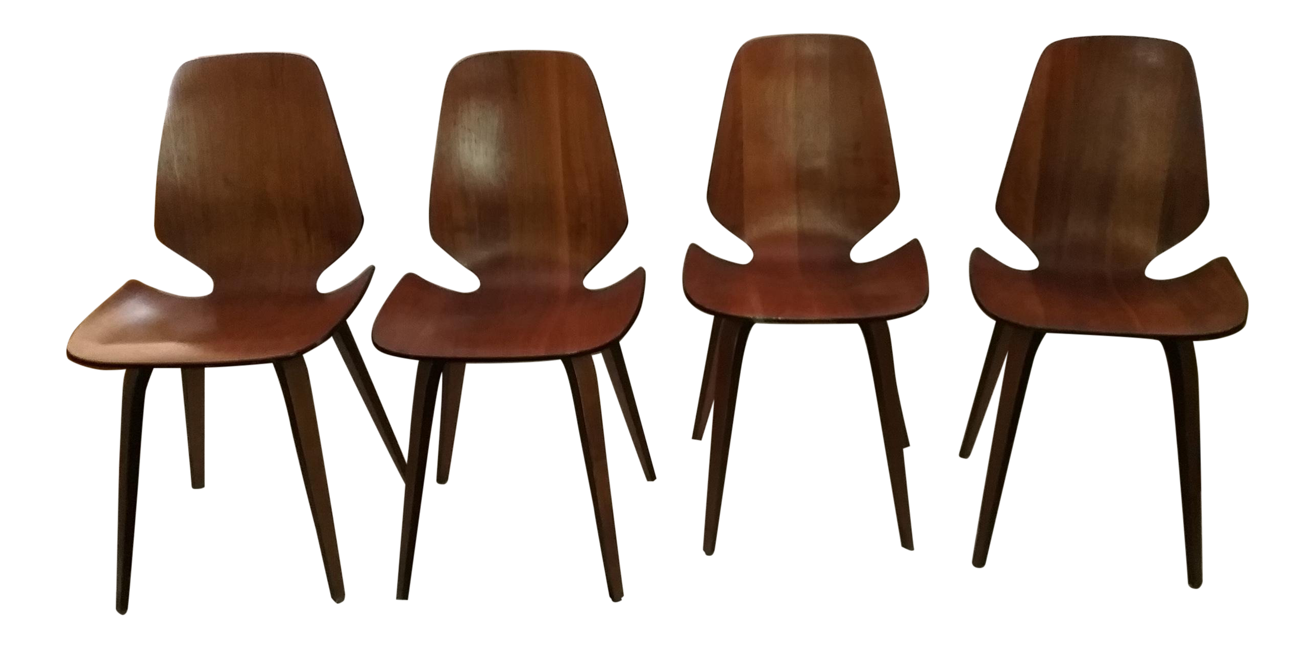 1965 Vintage Mid Century Modern George Mulhauser For Plycraft Dining Chairs    Set Of 4