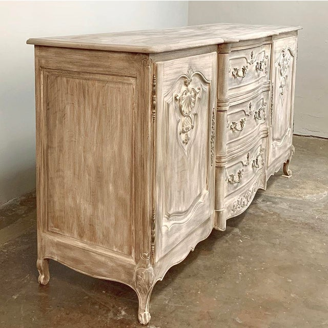 Antique French Louis XV Whitewashed Buffet For Sale - Image 13 of 13
