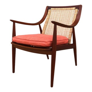 1950s Danish Modern Peter Hvidt Lounge Chair For Sale
