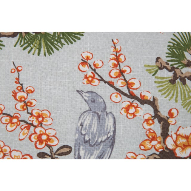 Asian Cherry Blossom Chinoiserie Pillows, a Pair For Sale - Image 3 of 5