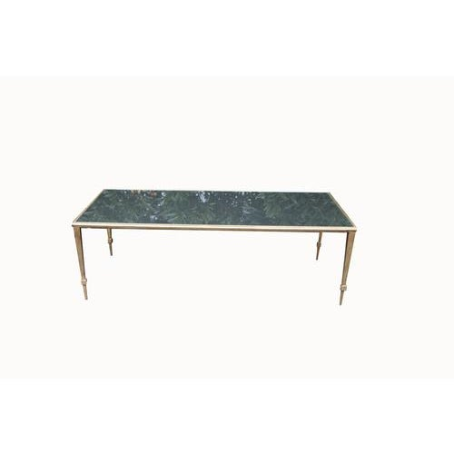 Maison Janson Style Brass Coffee Table With Smoked Glass For Sale - Image 9 of 9