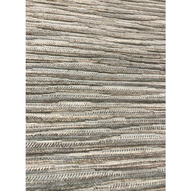 Abstract Kravet New Horizons - Birch Blue / Grey Designer Upholstery Fabric - 11.5 Yards For Sale - Image 3 of 6