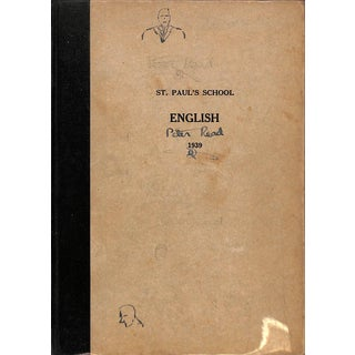 St. Paul's School English 1939 For Sale