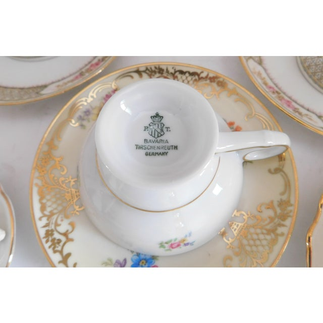 Antique Porcelain Demi-Tasse Cups & Saucers German and Limoges MIX and Match Sets - Service for 6 For Sale - Image 10 of 13
