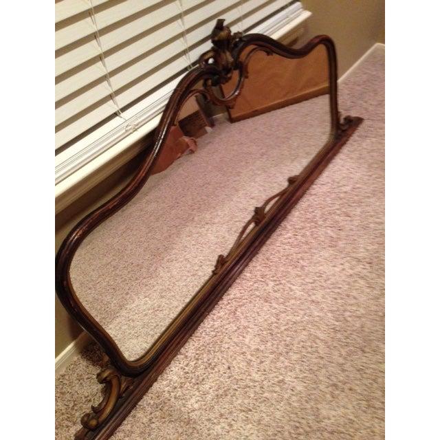 Antique Hand-Carved Wood Framed Mirror - Image 4 of 11