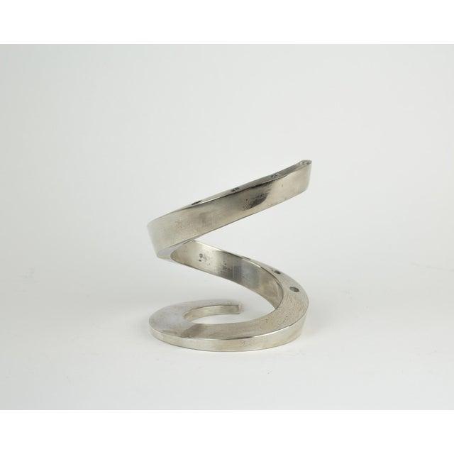 1960s 1960s Minimalistic Dansk Silver Spiral Candle Holder For Sale - Image 5 of 11