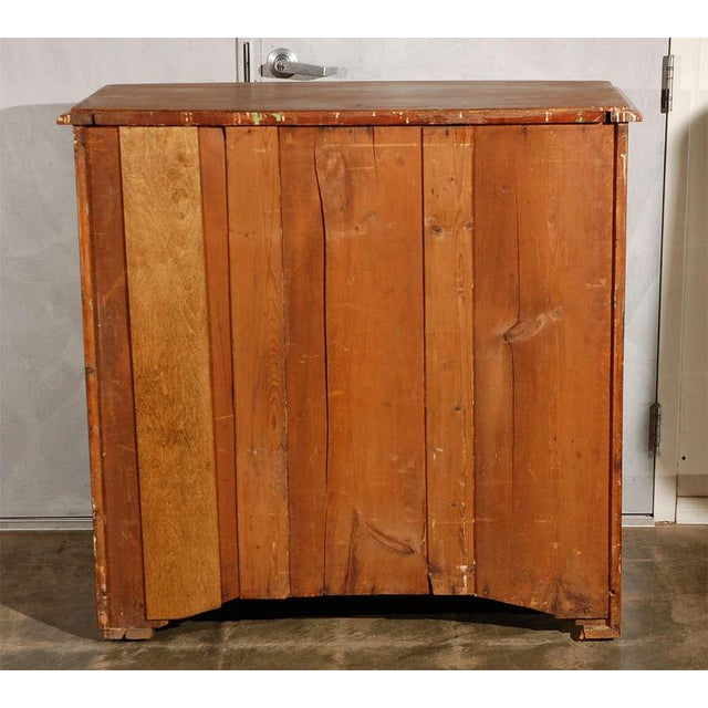 Pine Antique Bowfront Chest of Drawers For Sale - Image 7 of 7