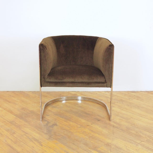Metropolitan Furniture 1970s Vintage Metropolitan Barrel Lounge Chairs - a Pair For Sale - Image 4 of 11