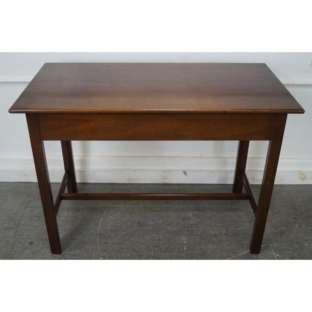 Kittinger Kittinger Colonial Williamsburg Adaptation Mahogany Chippendale Writing Desk For Sale - Image 4 of 10