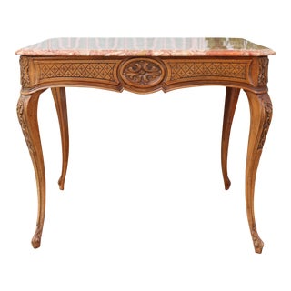 1950s Italian Carved Center Table For Sale