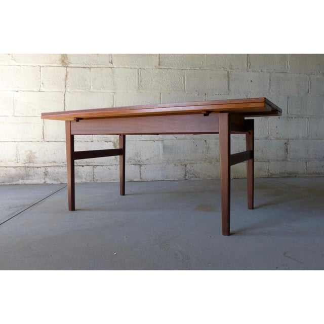 Convertible Mid Century Teak Coffee Dining Table Chairish