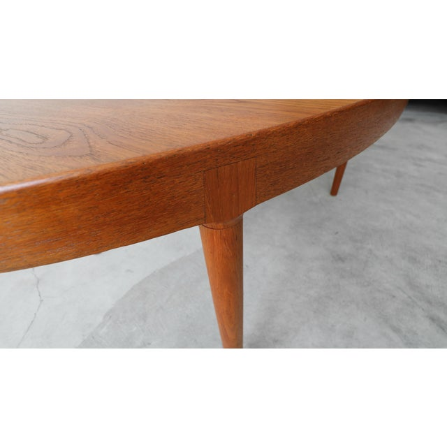Mid Century Danish Teak Oval Dining Table by Harry Ostergaard for A/S Randers For Sale - Image 9 of 11