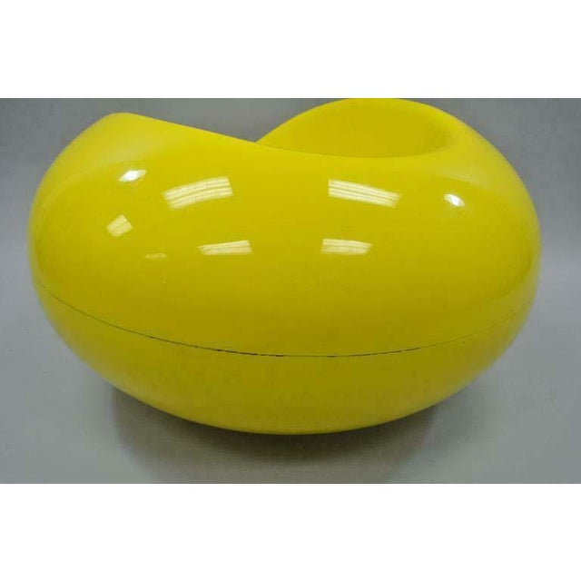 1960s 1960s Vintage Eero Aarnio for Asko Yellow Fiberglass Pastille Pod Gyro Lounge Chair For Sale - Image 5 of 11
