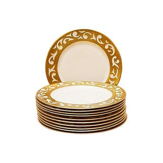 Carole Stupell Gilt Dinner Chargers - S/12 For Sale
