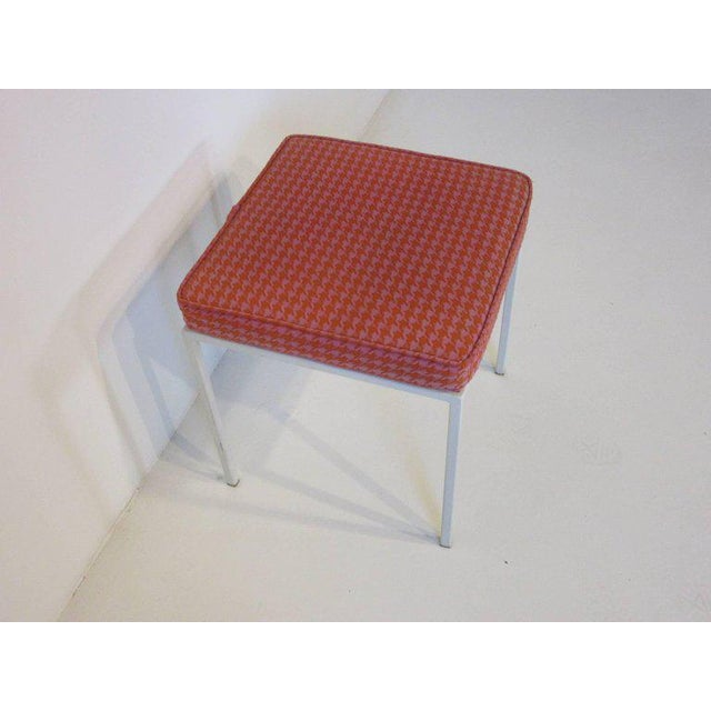 1950s Vista Vanity Stool by Jackson Gregory with Girard Fabric For Sale - Image 5 of 6
