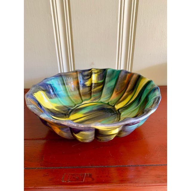 Groovy Handmade Pottery Vintage Bowl For Sale - Image 13 of 13