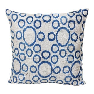 Silk Velvet Down Feather Accent Pillow For Sale