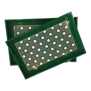 Bungalow 5 Sasoon Rectangle Nesting Trays - a Pair For Sale