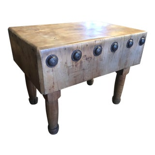 Butcher Block Kitchen Island For Sale