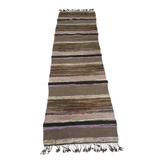 Swedish Rag Rug - 2′4″ × 8′7″ For Sale
