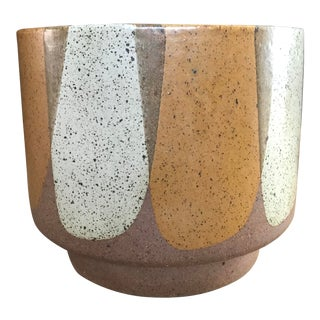 Architectural Pottery David Cressey Ceramic Flame Glaze Planter For Sale
