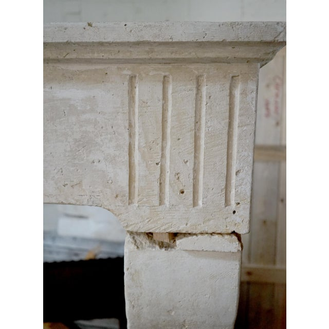 French 17th Century Limestone Fireplace For Sale - Image 3 of 6