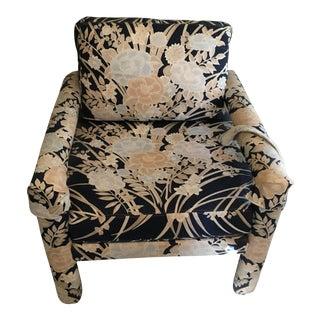 Dark Blue Patterned Side Chair