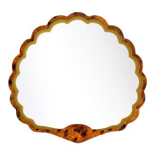 Fleur Home x Chairish Carnival Proteus Mirror in Tortoise, 36x33 For Sale