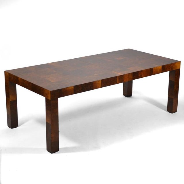 Paul Evans Parsons Table in Burl Patchwork For Sale In Chicago - Image 6 of 9