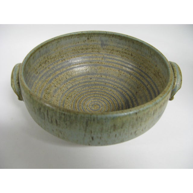 1970s Mid Century Modern Studio Pottery Bowl For Sale - Image 12 of 13