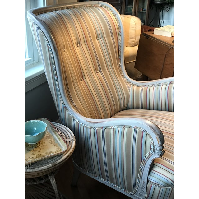 Fabric Mid-20th Century Chairs & Settee From Sweden For Sale - Image 7 of 13